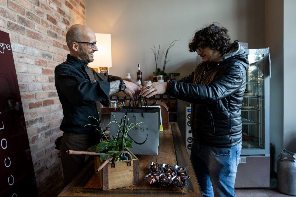 Guido Castagna e Valerio Braschi, ingredienti pere al cioccolato